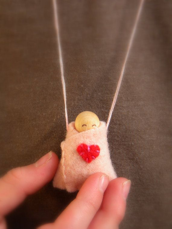 Waldorf Peg Doll Waldorf Baby Valentine's Day Gift by MamaWestWind