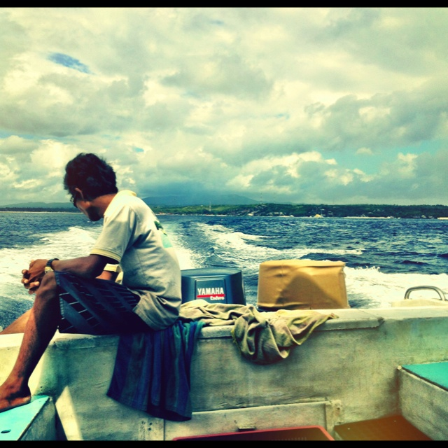 Leaving Lembongan island after a totally awesome snorkel session.