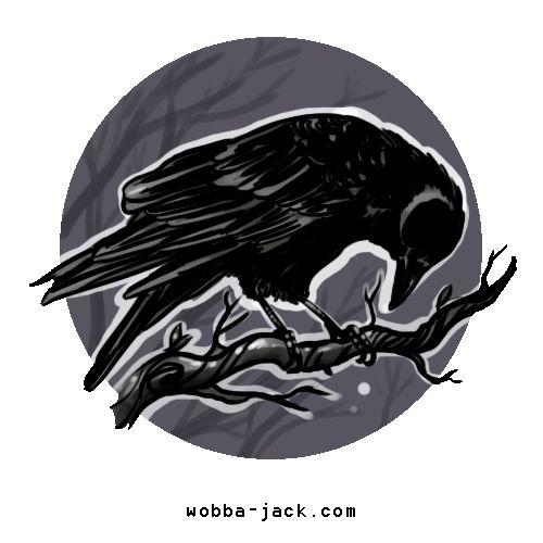 Significato Tatuaggio Corvo. Simboleggia sia la saggezza sia la distruzione. Corvi e lupi appaiono spesso con gli dei primitivi dei morti.