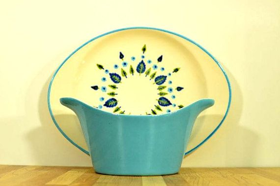 Midcentury Marcrest Swiss Chalet Gravy Boat and by VintageRescuer 1960s