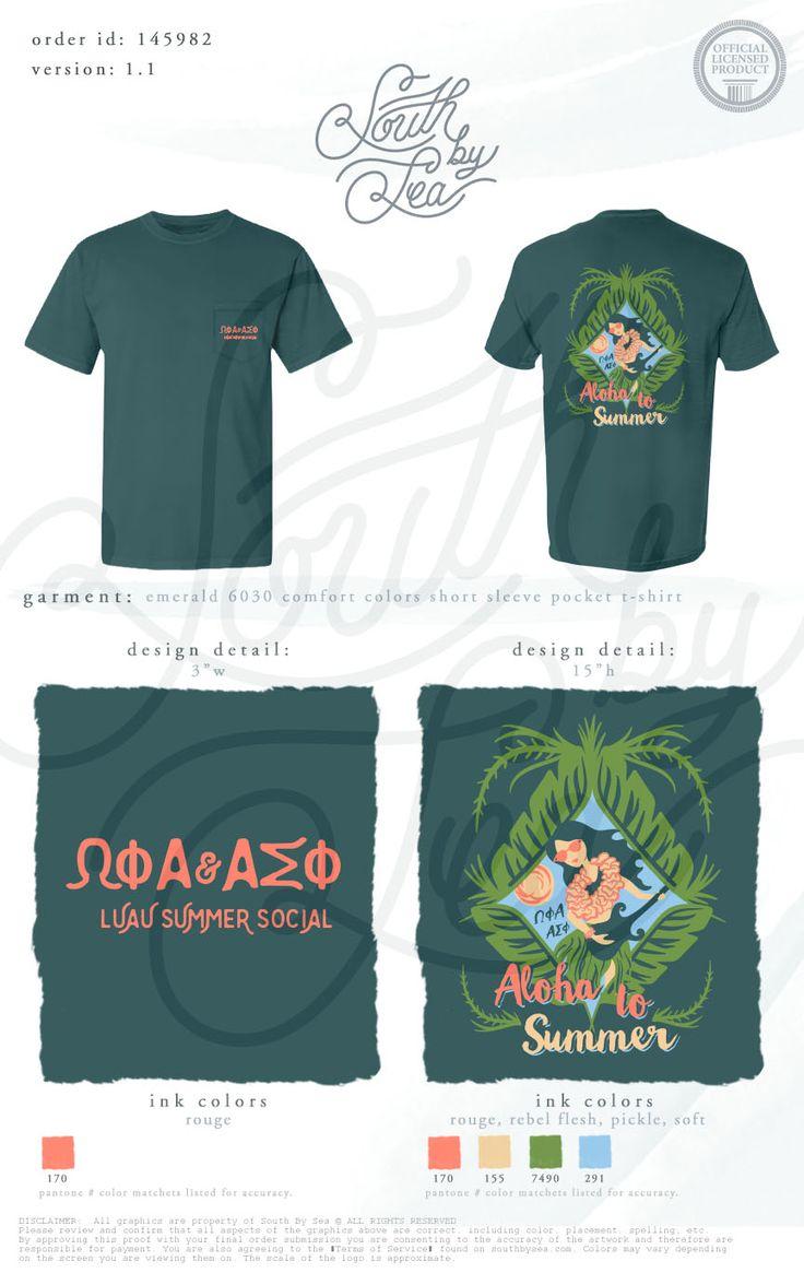 Omega Phi Alpha | Luau Summer Social | Hawaii |  Tropical Theme | Date Night Party | South by Sea | Greek Tee Shirts | Greek Tank Tops | Custom Apparel Design | Custom Greek Apparel | Sorority Tee Shirts | Sorority Tanks | Sorority Shirt Designs