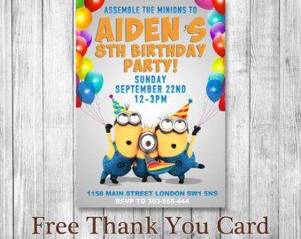 The 25 best Minion party invitations ideas on Pinterest Minion