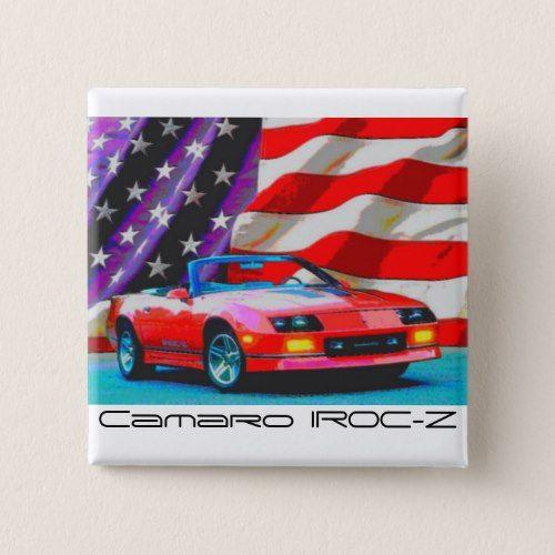 1992 Camaro IROC-Z Convertible 25th Anniversary Ed Pinback Button
