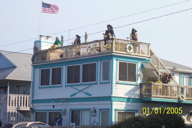Flagler Beach House- we always joke about the life-sized pirates!