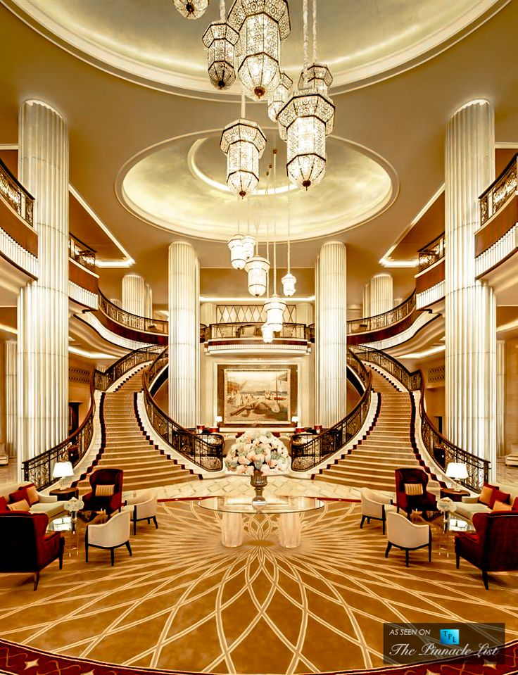 luxury hotel abu dhabi uae grand lobby staircase interior design