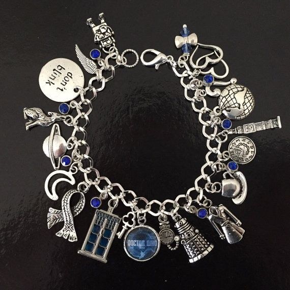 Doctor Who Charm Armband, Dr Who, Time Lords, Whovian Geschenk? Fandom