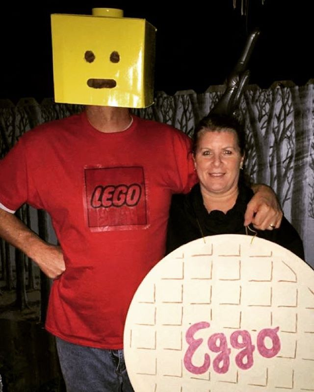 """Pin for Later: 43 """"Punny"""" Halloween Costumes That Won't Break the Bank Lego My Eggo"""