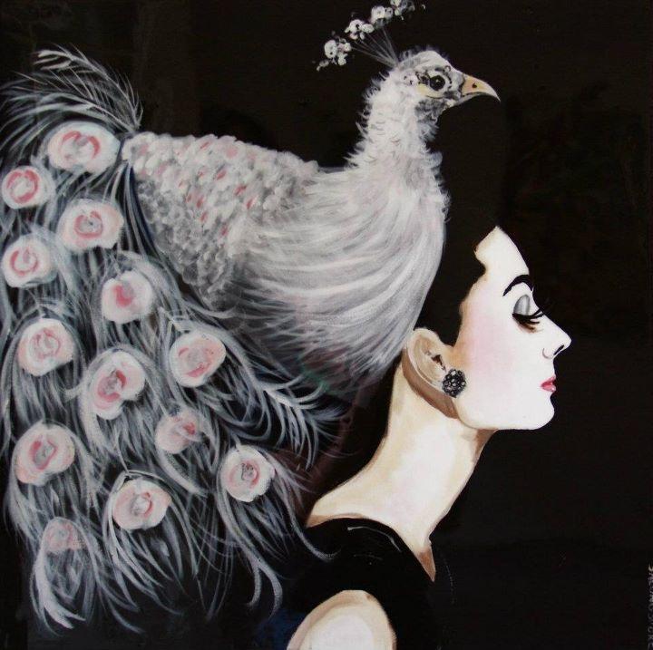 """Albino Peacock,"" Sarah Ashley Longshore"