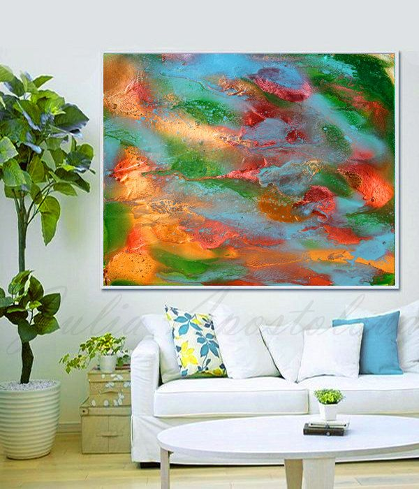 #Large #WallArt, #Print, #Autumn   #Print #Art, #Gold #Copper #Teal #Green, #Colorful #Painting, #Autumn #Abstract, #Turquoise, #Modern #Wall #Decor #homedecor #decor #interior #design #designer #livingroom #interiordesigner