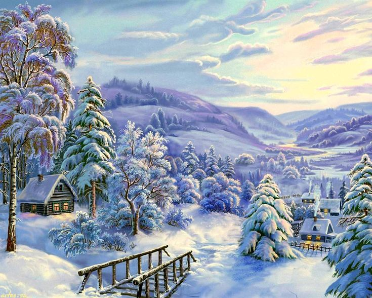 картинки с зимними пейзажами такой