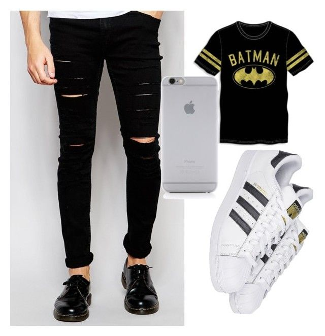 """""""black"""" by cosmina-styles-alina on Polyvore featuring Cheap Monday, Native Union, Bioworld, adidas, men's fashion and menswear"""