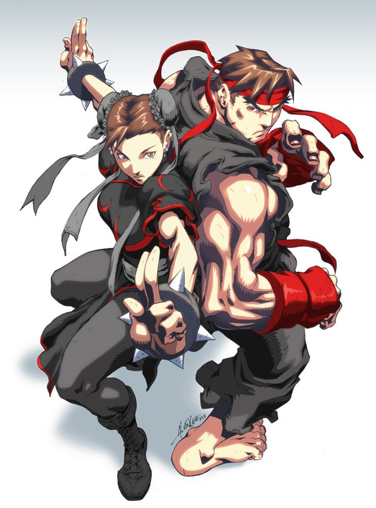 Evil Ryu and Chun-Li / Jilted-Prodigy