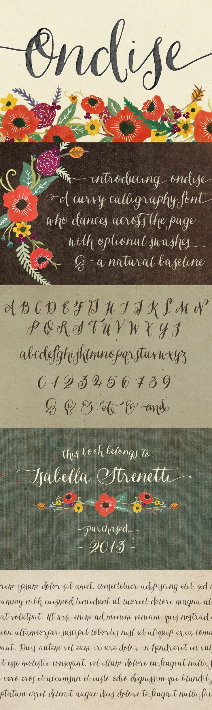 Ondise Font by Magpie Paper Works | 22 Professional & Artistic Fonts Apr 2015
