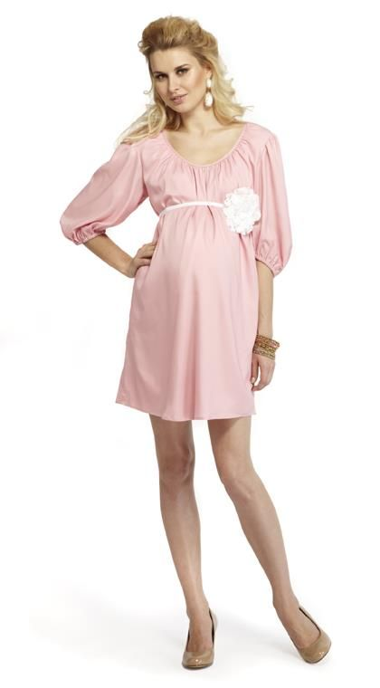 More of Me Baby Shower Dress in Pink available at Baby Bump Maternity in New Orleans www.nolababybump.com -Rock the Bump