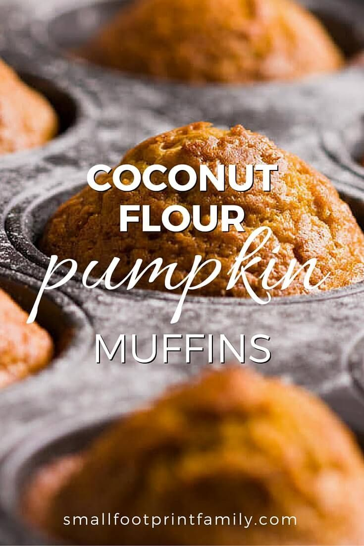 This delicious recipe for coconut flour pumpkin muffins contain a modicum of nutrition, owing to the many eggs, nuts and veggies you can include in them.