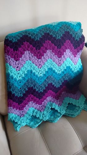 """Vintage Rippling Blocks"", free Ravelry download, pattern by Angela Maria"