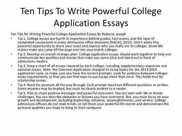 Application Essay Writing
