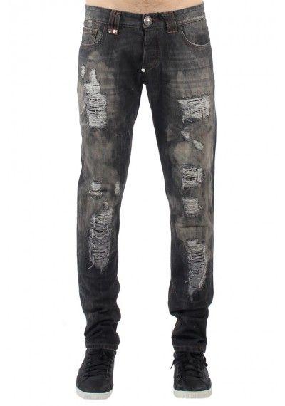 Philipp Plein - Ripped Grey Jeans