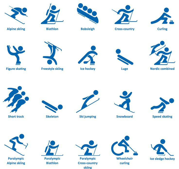 Winter Sports Solution | ConceptDraw.
