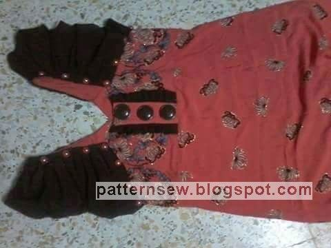 باترون قندورة كتان صيفي للبنات - Pattern Sewing