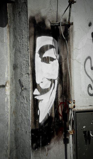 Anonymous, Guy Fawkes... #StreetArt