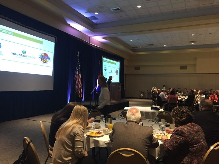 Great event and topics this morning at State of the State Special Guest Congressman Ed Perlmutter, Arvada Mayor Mark Williams   #ArvadaPride