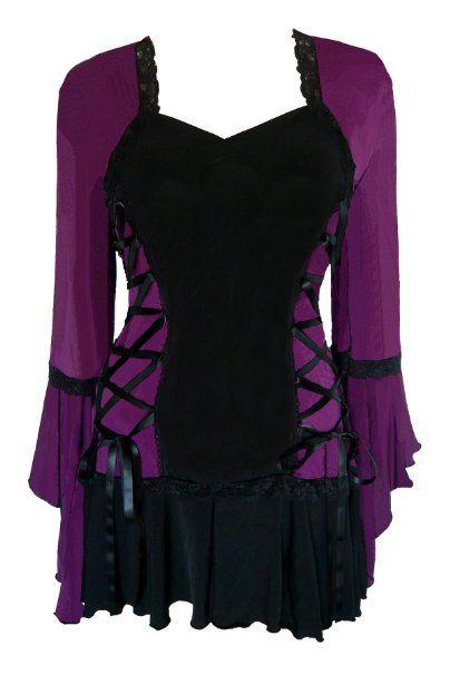 Amazon.com: Dare To Wear Victorian Gothic Women's Plus Size Bolero Corset Top: Clothing