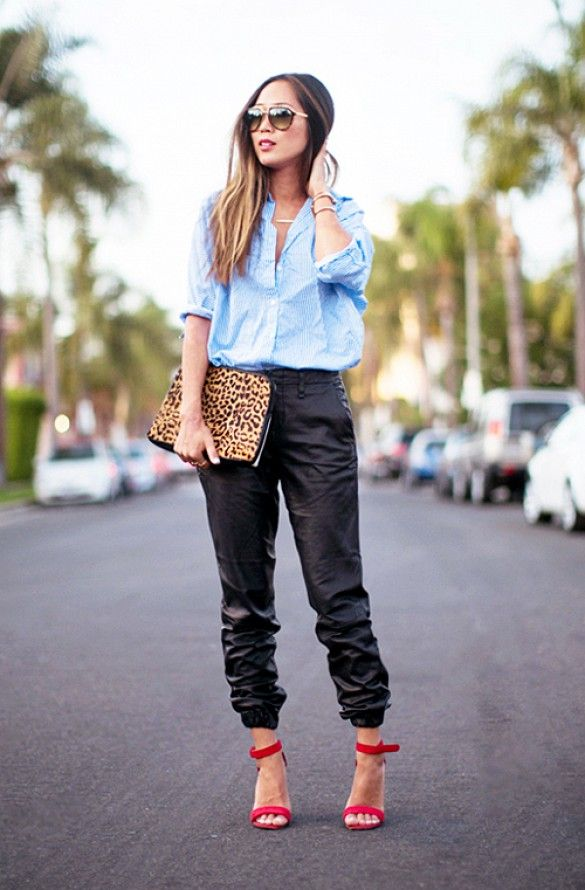 17 Best Ideas About Leather Joggers On Pinterest Leather