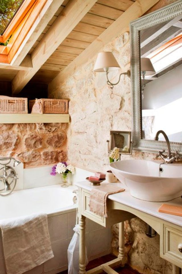 men bathroom tumblr%0A stone and antique table with sink