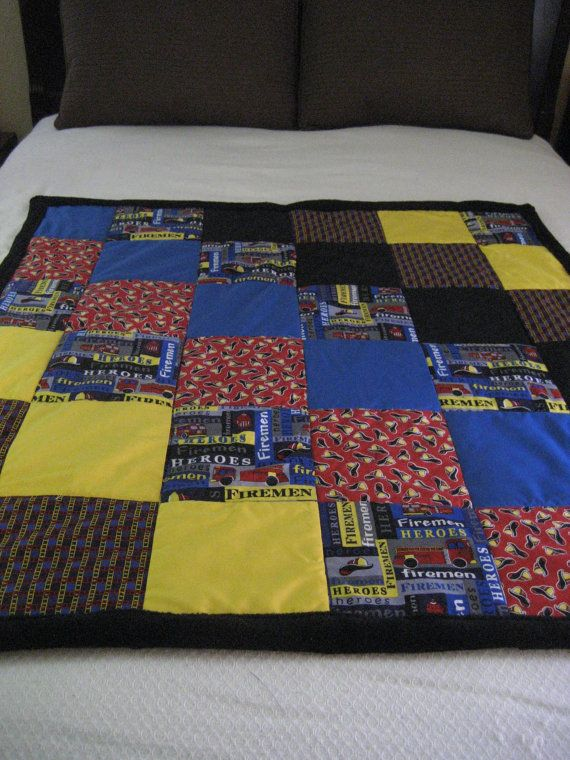 Fireman Firefighter Hero Ladder Truck Baby Blanket by Tammysaprons  To buy it now https://www.etsy.com/listing/226362513/fireman-firefighter-hero-ladder-truck?ref=shop_home_active_20