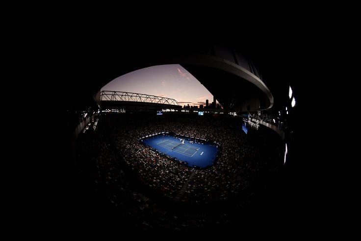 PHOTOS: Federer fights back. Rod Laver Arena