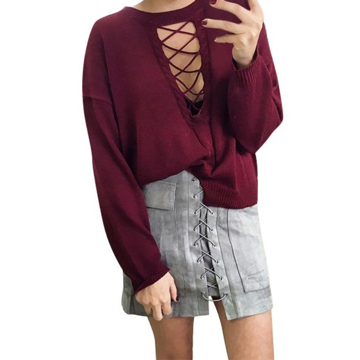 Women Autumn Lace Up Suede Leather  Skirt 90's Vintage Pocket Preppy Short Skirt Winter High Waist Casual Mini Skirts