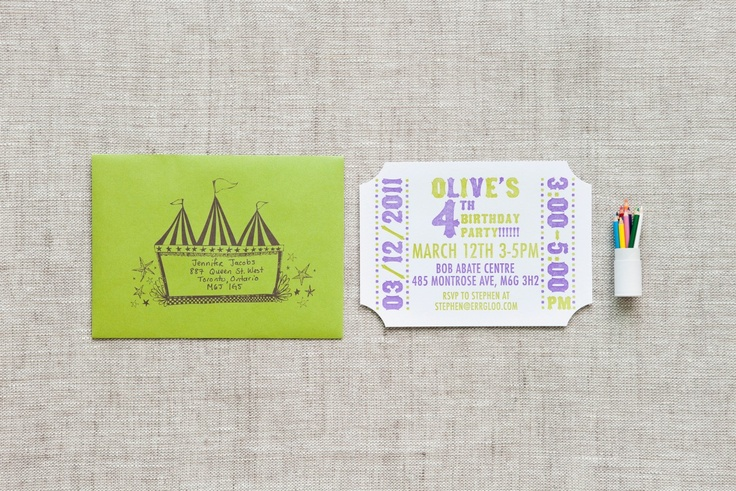 Olive's 4th Birthday - Paper & Poste Custom Invitation Suite