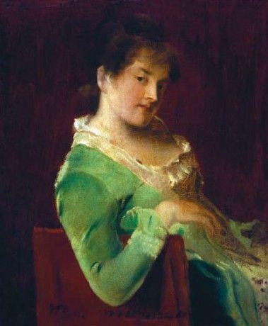TABULA CANDIDA - Képgaléria - Magyar festészet - Az ismeretlen Munkácsy - 0001. Női portré (1880 körül)