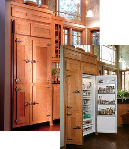 LOVE The Idea Of Hiding The Fridge And The Dishwasher