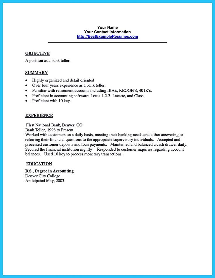 Most of people who are about to apply for job as a bank teller, they consider to take learn from a bank teller resume sample. Thereby, you can get the... bank teller cv sample and bank teller job resume sample