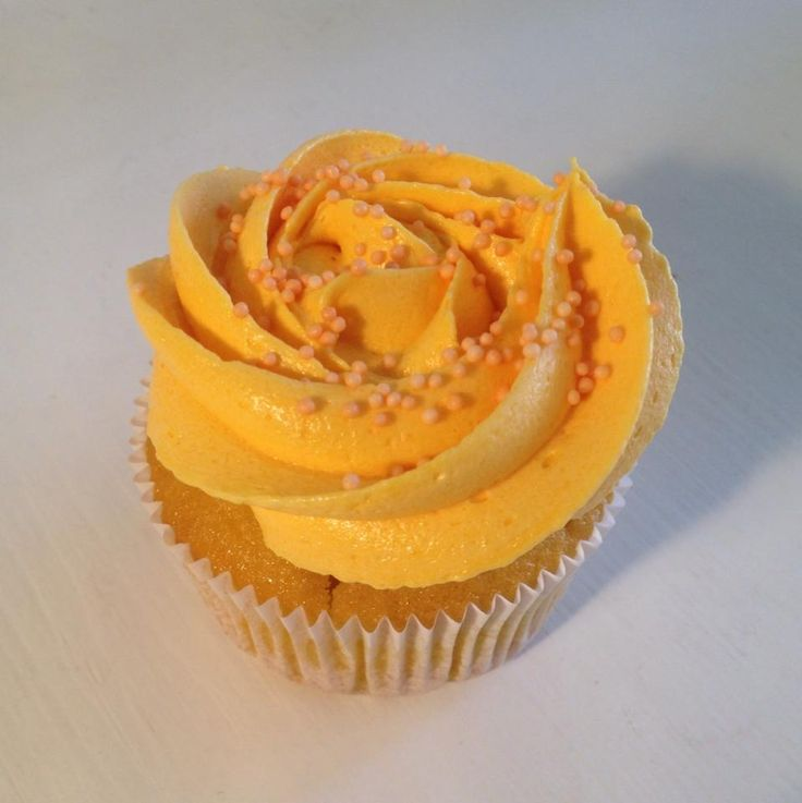 Delicious Mango Cupcake by YUMM Cupcakes. The Cupcake Shop in Basel, Switzerland