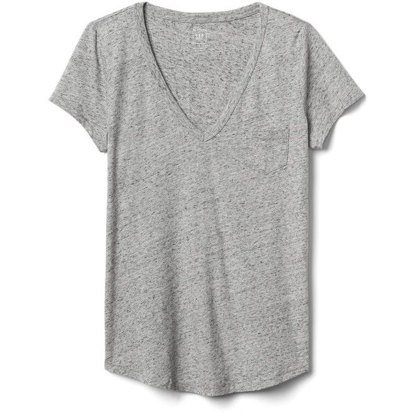 Gap Women Vintage Wash V Neck Tee ($15) ❤ liked on Polyvore featuring tops, t-shirts, new heather grey, tall, tall t shirts, short sleeve v-neck tee, short sleeve t shirts, v neck t shirts and heather grey t shirt
