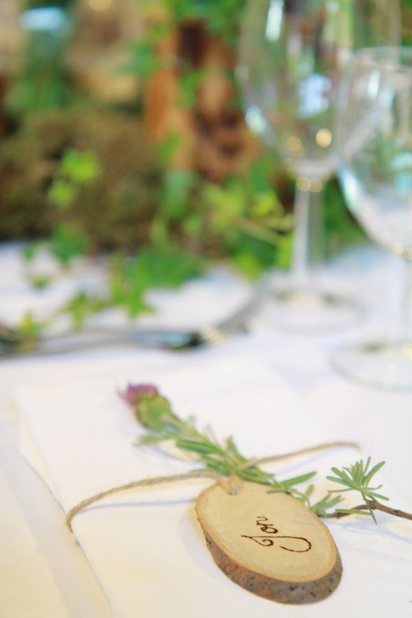craft ideas for wedding place cards%0A Natural Bohemian  u     Woodsy Homemade Wedding