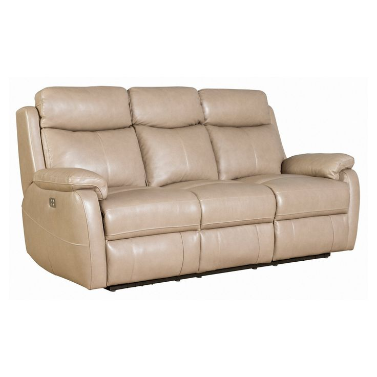 Barcalounger Brockton Power Reclining Sofa with Power Head Rests in Leather - 39PH3172370186