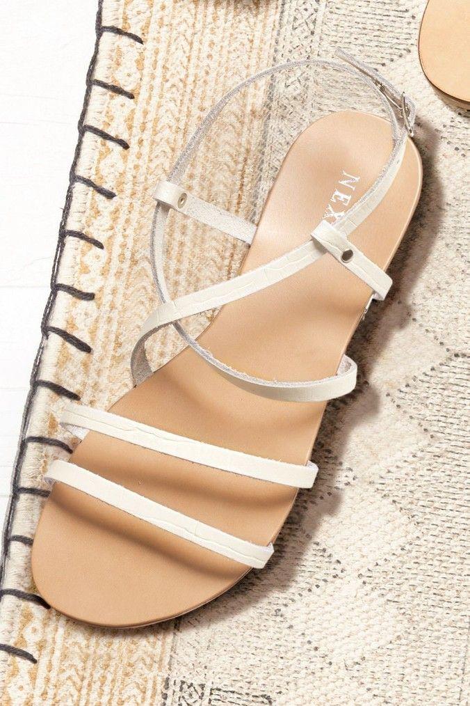 Womens Next White Strappy Sandals White | White strappy