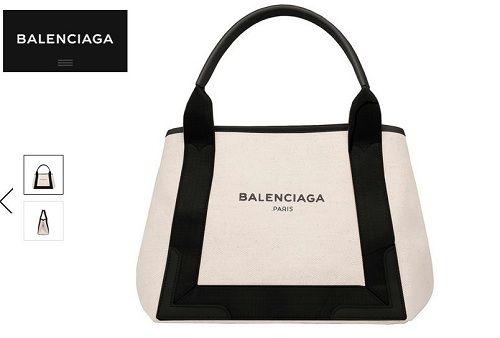 バレンシアガのキャンバストートバッグ