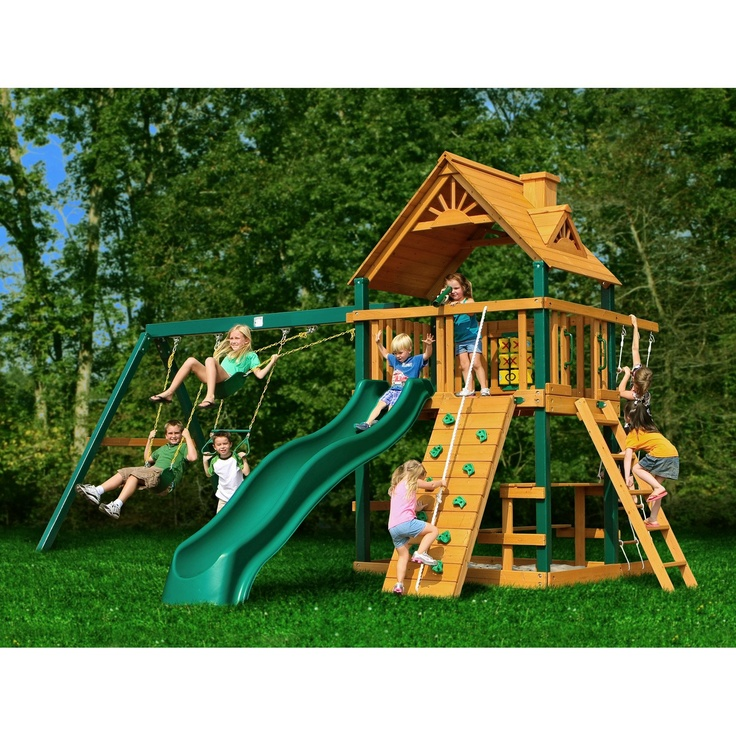 Gorilla Playsets Blue Ridge Chateau II Wood Swing Set
