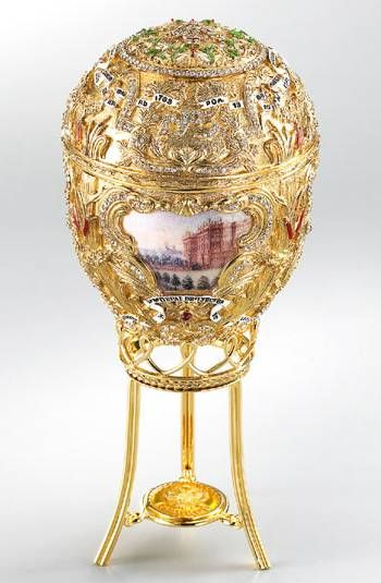 (1) FABERGE eggs__Peter the Great Egg - is created by firm Faberge as Nikolay II Gift to the empress Alexander Fedorovne for Easter 1903.