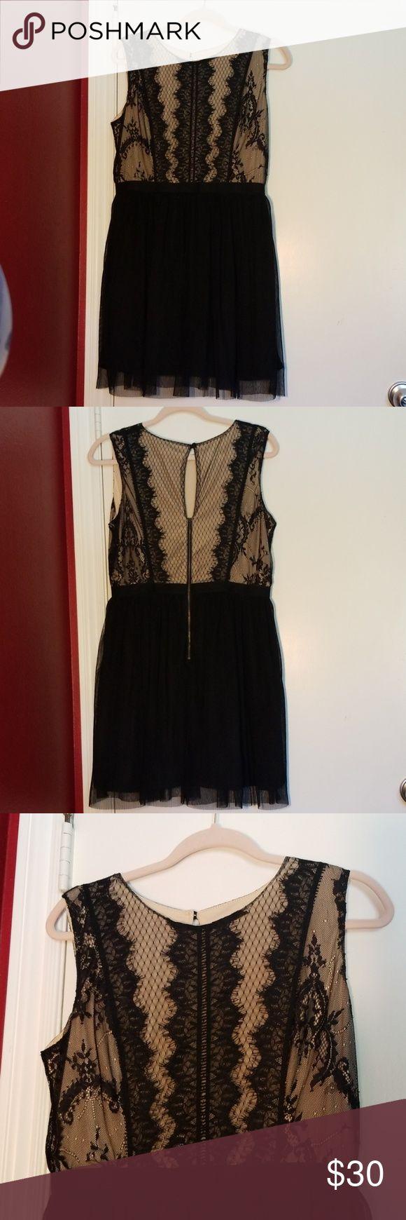 Lace dress Dress has been worn 3x. Size Large , One piece dress. Dress is like b…