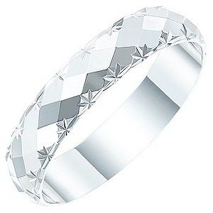Awesome Ladies u ct White Gold Diamond Cut Patterned Band H Samuel Diamond CutsWhite Gold DiamondsWedding Rings