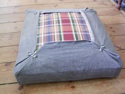 Quick Upholstery Idea   Love This! Easy To Change Seasonally Or To Wash    Great Idea For Front Porch Daybed Or Chair Cushions