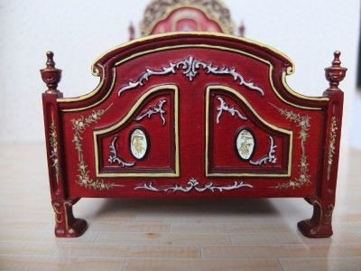 Details about  SALE Dollhouse Miniature Furniture Victorian bedroom set bed Armoire Clearance