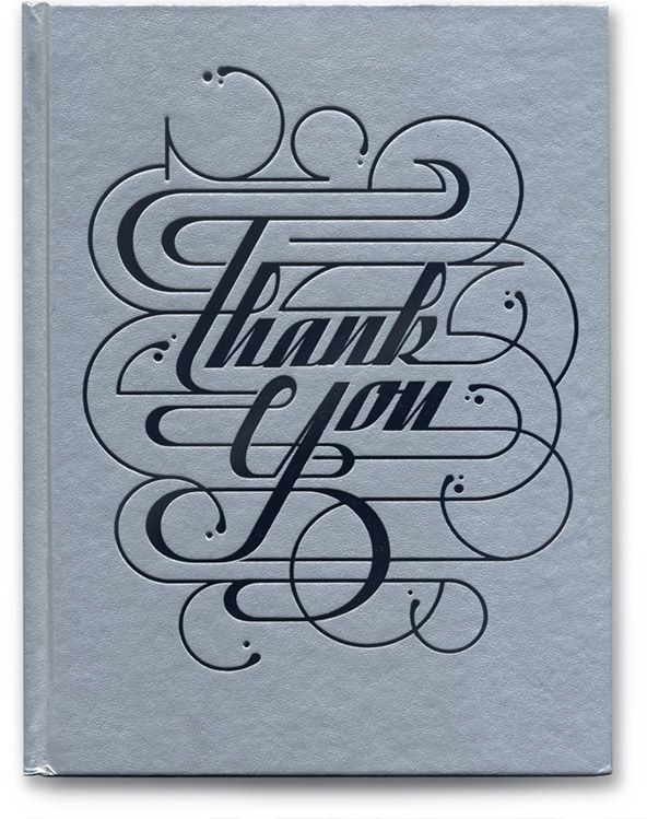 Unknown designer, great Thank You booklet design. The entire design was perfectly laid out and tight. #WhimsicalFont #Thankyoucard  Repinned from Pinterest
