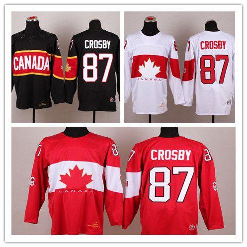 8e0b2335ff3 men adidas team canada 87 sidney crosby red 2016 world cup ice hockey jersey   2010 olympics canada 87 sidney crosby red jersey
